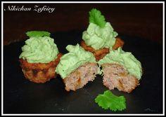 Muffins Mexicanos Salados con Frosting de Guacamole