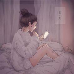Cute Couple Cartoon, Cute Love Cartoons, Cute Cartoon Girl, Cute Couple Art, Cartoon Art, Korean Illustration, Illustration Art, Aesthetic Anime, Aesthetic Art
