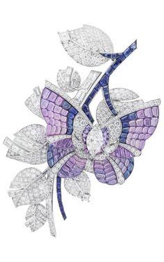 Van Cleef & Arpels vitrail mystery setting brooch