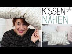 ▶ DIY Kissenbezug nähen für Anfänger ohne Reißverschluss oder Knöpfe - Schlupfbezug - alive4fashion - YouTube