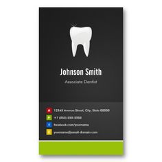 Associate Dentist - Dental Creative Innovative Business Card Template