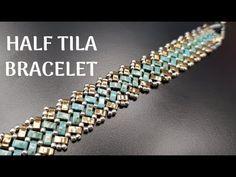 Half a Tila Bracelet - DIY Beaded Jewelry Designs, Bead Jewellery, Jewellery Supplies, Diy Jewelry Tutorials, Diy Jewelry Making, Making Bracelets, Beaded Bracelets Tutorial, Diy Jewelry Inspiration, Bracelet Patterns