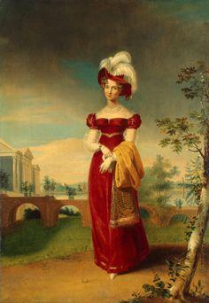 1820s George Dawe - Portrait of Empress Elizabeth Alexeyevna in a Park in Tsarskoye Selo