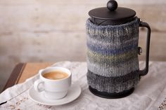 French Press Coffee Cozy - Hand Knit - Father's Day. $24.95, via Etsy.