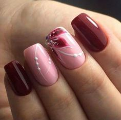 Nageldesign neue Modelle 2018 – Beste Trend Mode Nageldesign neue Modelle 2018 Christmas nails are that necessary component of your good vacation look. Hair And Nails, My Nails, Nagellack Trends, Beautiful Nail Art, Beautiful Nail Designs, Flower Nails, Cool Nail Designs, Nail Art Flowers Designs, Stylish Nails