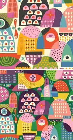 Sweet semicircle by Helen Dardik Pattern Dots, Boho Pattern, Doodle Pattern, Pattern Texture, Surface Pattern Design, Pattern Print, Design Textile, Design Floral, Textile Patterns