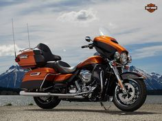"""2014 FLHTK""""Ultra Limited""""  Amber Whiskey/Vivid Black -Chrome Front end, Passenger footboard cover, Aux Footpegs, Chrome Windshield trim and Frame deflector  REF# 625898  $28,218.10 +F.S.P."""