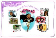 Pocket Princesses Meet Pocahontas by Amy Mebberson Pocket Princesses, Pocket Princess Comics, Disney Princesses, Funny Princess, Princess Pocahontas, Princess Cartoon, Princess Stories, Princess Power, Angel Princess