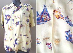 Vintage 40s Men's Hawaiian Shirt  McGregor by aquamarinedream, $400.00