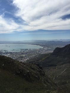 Hiking up the Table Mountain, Cape Town