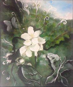 """Art peinture originale: """" Instant floral"""" : Peintures par atelier-les-naturels"""