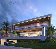 Modern Exterior House Designs, Modern Villa Design, Dream House Exterior, Modern Architecture House, Exterior Design, Contemporary Design, Glass House Design, House Front Design, Village House Design