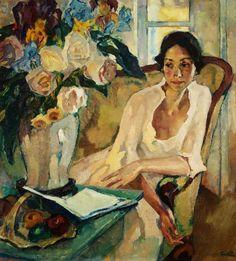 Leo Putz(Austrian, 1869ー1940) - Portrait of a Woman, 1922