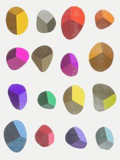 Painted Pebbles 2 - Art Print by Garima Dhawan/Society6