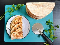 Hearty Black Bean Quesadillas - BudgetBytes.com Tastes like Chili's Southwest Egg Rolls!  Add chicken chili lime chicken from Carlsbad Cravings!