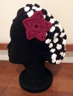 Crochet hat with detachable flower pin. Made with anti-pilling acrylic for easy care. As always made with love in every stitch!!! $18