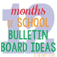 12 months of school bulletin board ideas---perfect for teachers and PTA members! Birthday Bulletin Boards, Classroom Bulletin Boards, Classroom Decor, Classroom Walls, Birthday Board, Classroom Resources, Classroom Organization, Classroom Management, Bullentin Boards