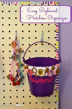 Architecture of a Mom: Hairbow Pegboard Organizer