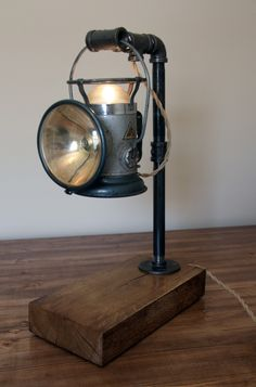 Industrial Desk Lamp (1930's Delta Lantern) by Ben Stibal at Coroflot.com