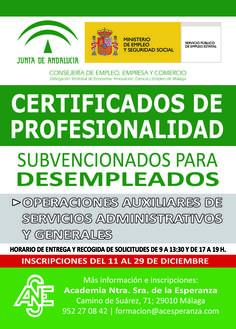 📣 #Curso Gratuito para #Desempleados subvencionado por la Junta de Andalucía 📣 ➡ Abierto plazo de inscripciones‼ https://www.acesperanza.com/cursos-de-la-junta-de-andalucia/ #malaga #juntadeandalucia