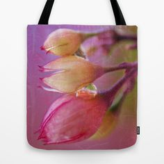 Flower Trio. Tote Bag by Mary Berg - $22.00 #totebags #society6 #flower #pink #women