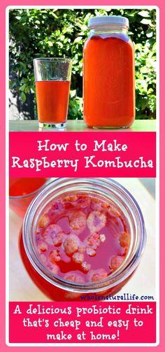 Raspberry Kombucha: