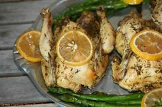 Slow Cooker Greek Cornish Hens- Food Done Light #easterdinner
