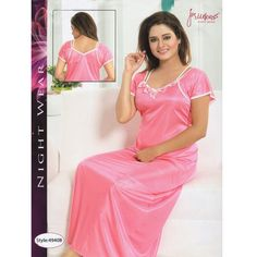 Fashionable One Part Nighty- 4940 B Night Dress Online, Fashion Night, Salwar Kameez, Saree, Indian, Sexy, Womens Fashion, How To Wear, Dresses