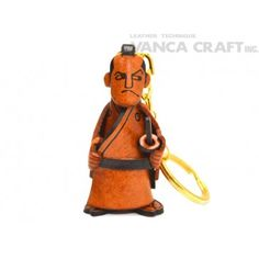 GENUINE 3D LEATHER SAMURAI KEYCHAIN MADE BY SKILLFUL CRAFTSMEN OF VANCA CRAFT IN JAPAN. #handmade #keyfob #gift #unique #art #design #cute