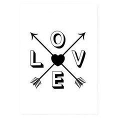 Wandkunst 'Love Heart Arrows'