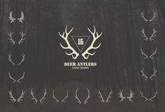 Check out 16 Deer antlers vector by Julia's Design on Creative Market