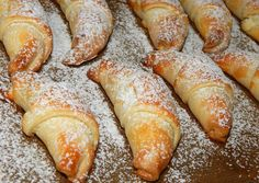 Yummy with filling, dusted with & Hungarian Desserts, Hungarian Recipes, Cookie Desserts, Dessert Recipes, Sweet Cookies, Bread And Pastries, Sweet Bread, No Bake Cake, Food To Make