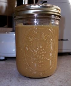 Fresh, home made peanut butter ready to eat!