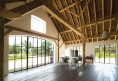 Haus Ehemalige Scheune in Utrecht, NL Utrecht, Contemporary Barn, Modern Barn, Converted Barn Homes, Agricultural Buildings, Best Barns, Rustic Luxe, Rustic Wood, A Frame House