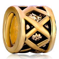 Golden Filigree Fit All Brands Gold Plated Beads Charms Bracelets Pinterest