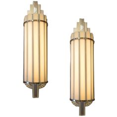 Art Deco Large Theater Wall Sconces   From a unique collection of antique and modern wall lights and sconces at https://www.1stdibs.com/furniture/lighting/sconces-wall-lights/