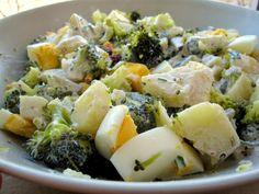 Potrawy Półgodzinne: Sałatka brokulowo ziemniaczana