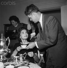 Jackie having a tea party in the US Presidential campaign