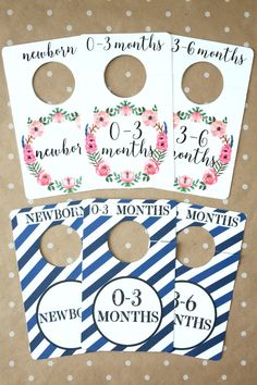printable nursery closet dividers