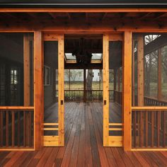 Craftsman Screen porch in Candler Park by Clark Harris. Photo via houzz.