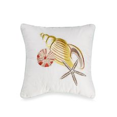 """Coral Beach 14"""" Square Toss Pillow, $49.99"""