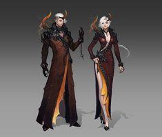 Renewed Dark Poeta Cloth Armor from Aion