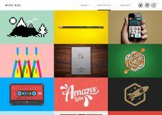 Mike Kus #webdesign #inspiration #UI