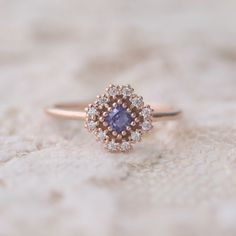 Flower Engagement Ring Set Rose Gold Engagement Rings Flower Moissanite Ring with Half Eternity Band - Fine Jewelry Ideas Diamond Bands, Diamond Wedding Bands, Wedding Rings, Wedding Jewelry, Jewelry Art, Silver Jewelry, Silver Rings, Silver Bracelets, Jewelry Rings