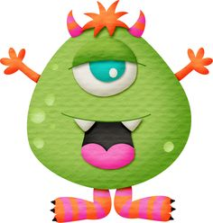 """Photo from album """"монстры"""" on Yandex. Cartoon Monsters, Scary Monsters, Cute Monsters, Little Monsters, Monster Dolls, Monster Crafts, Doodle Monster, Monster Clipart, Halloween Rocks"""