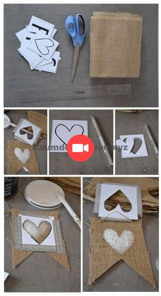Création guirlande de fanion just a married *** Petites Pépites **** is in the process of writing th Valentines Day History, Love Valentines, Valentine Crafts, Valentine Day Gifts, Burlap Crafts, Diy And Crafts, Saint Valentin Diy, Valentines Bricolage, Valentine's Day Quotes