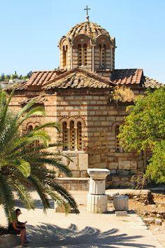 10th Century Church of The Apostles ~ Athens, Greece