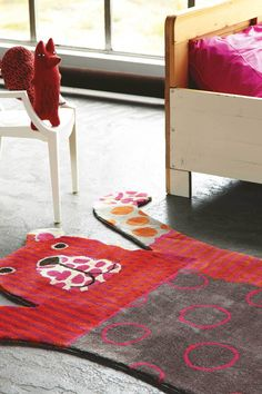 Living with littles? Clever kids' rooms that don't scrimp on style Girl Room, Girls Bedroom, Baby Room, Clever Kids, Childrens Rugs, Modern Carpet, Red Rugs, Shaggy, Floor Rugs