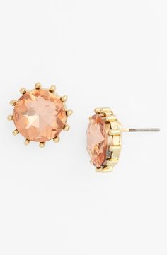 Stunning! Wearing these sparkly peach oversized stone stud earrings today.