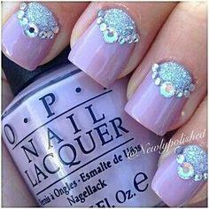 Purple nails | See more nail designs at http://www.nailsss.com/acrylic-nails-ideas/2/